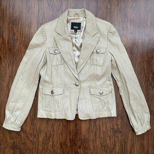mossimo vegan leather blazer jacket - size l